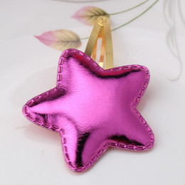 Metal Color Hair Clips Canada - New Arrival Summer Style Metal Color Children Shiny Star Hairgrips Baby Hairpins Girls Hair Accessories Heart Star Hair Clip