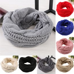 Cowl Snood Scarf Australia - 2018 Winter Fashion Women Warm Knitted Neck Circle White Wool Blend Cowl Snood Multi-Purpose Wool Scarf Bufandas De Cuello