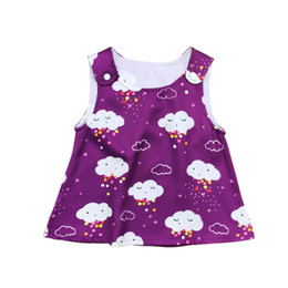 Chinese  2018 Summer Girls Newborn Infant Dresses Princess Sleeveless Purple Cloud Costume Children Clothing Girl Dress Wedding Dress manufacturers