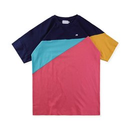 Chinese  18ss Europe London Hip Hop METRIC Multicolor Panelled Tee Skateboard Cool T-shirt Men Women Clothes Cotton Casual T-Shirt manufacturers
