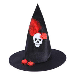Wholesale Children Wizard Hats Australia - Wizard Hats Witch Hat Party Hat Halloween Costumes Halloween Party Props Cosplay Costume Accessories for Children Adult