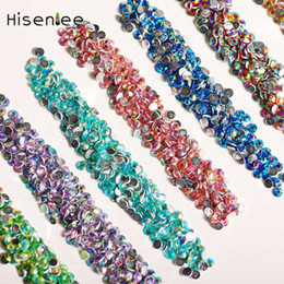 $enCountryForm.capitalKeyWord Canada - Hisenlee 2mm 5000Pcs Nail Rhinestones Colorful Glitters Crystal Acrylic Nail Studs Manicure 3D DIY Art Decorations