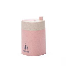 Vente en gros Style européen automatique cure-dents porte conteneur de stockage de paille de blé décoration de table accessoires boîte de titulaire de cure-dents
