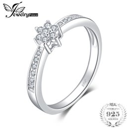 JewelryPalace Classic Fashion Engagement Ring 925 Sterling Silver Jewelry Birthday Present For Girlfriend Fine Gift Women Y18102610