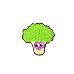 Wholesale food t shirts online – design 10PCS Diy Broccoli Applique Embroidery Food Patches for Stripe Fabric Badge Sticker on T shirt Patch for Stitchwork Sewing Accessories Patch