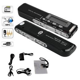 8GB Digital Voice Recorder Voice aktiviert USB-Stift Digital Audio Recorder Mp3-Player Diktiergerät Schwarz Gravador de voz
