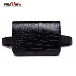 $enCountryForm.capitalKeyWord Canada - Women's Waist Bag Black PU leather Alligator Fanny pack belt bag Purse phone pocket heuptas New Product Promotions Free Shipping