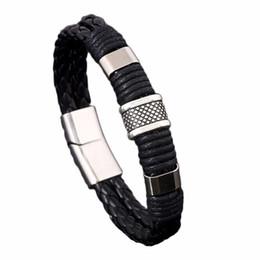 $enCountryForm.capitalKeyWord Australia - Handmade Simple Punk Vintage Women Alloy Genuine Leather Charming Bracelets & Cuff Bangels Homme Men Bijoux Jewelry Accessories