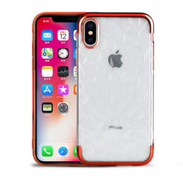 DiamonD Design for phone online shopping - For iPhone XS MAX X Plus Electroplating Soft TPU Clear Case Diamond Design Phone Cover for Samsung S9 A7 A8 Huawei