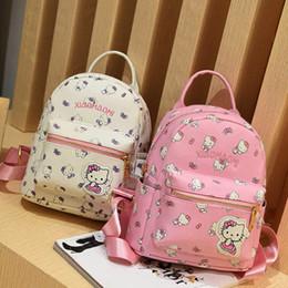 b3f5e0919c42 Cute Cat Backpack School Book Bags Women PU Leather Backpacks for Teenage  Girls travel back pack bag Female Mochila