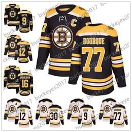 4ad831700 Boston Bruins 2018 New Brand  77 Ray Bourque 9 Johnny Bucyk 12 Adam Oates  16 Derek Sanderson Stitched Black White Hockey Jerseys S-60