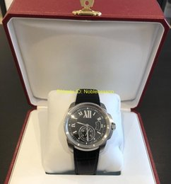 Calibre watCh box online shopping - in Original Box Mens Luxury Watch Men s De Calibre Black Dial and Leather Strap Men s Watch W7100041 Automatic Men s Mechanical Watches