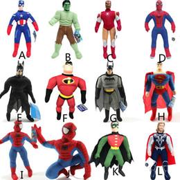 Chinese  14styles The Avenger Plush Toys 25*10cm Iron Man Spiderman Thor Stuffed Buddy Plush Doll Stuffed Marvel Superhero Kids Toy AAA1136 manufacturers