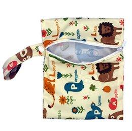 Toptan satış Bebek Bezi Çanta Nappy İstifleyiciler Çanta Su Geçirmez Bezi Organizatör Taşınabilir Fermuar Bebek Arabası Sepeti Çanta Islak Kuru Bez Saklama Çantası