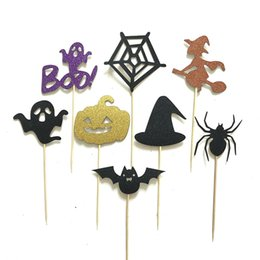$enCountryForm.capitalKeyWord NZ - 8pcs set All Saints Day Halloween Cupcake Toppers Birthday Cake Toppers Party Gifts Halloween Decorations W7567