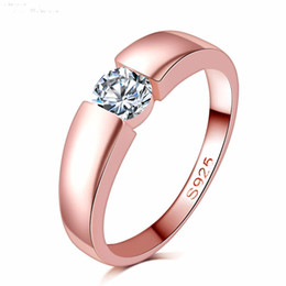 Discount gold ring design for lovers free shipping high quality rose gold filled zircon stone rings Top Design engagement Band lovers Ring for Women Men DR17