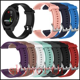$enCountryForm.capitalKeyWord Canada - New Replacement Wrist Band Wristband Silicon silicone Strap For Garmin vivoactive 3 Samsung Gear sport S4 Smart watch Bracelet