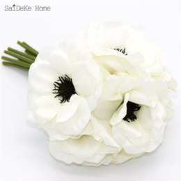 Wholesale Silk High Quality Beautiful White Peony Artificial Flowers Bouquet Home Furnishing Decorative Simulation Flower