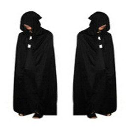 $enCountryForm.capitalKeyWord Australia - Halloween Decorations Black Halloween Costume Theater Prop Death Hoody Cloak Devil Long Mantle Wizard  Vampire Dress Smocks FA04