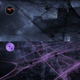 $enCountryForm.capitalKeyWord NZ - 100ps Spider Net Scary Party Props Horror Ornaments Stretchy Cobweb For Bar KTV Haunted House Halloween Decor HW0816