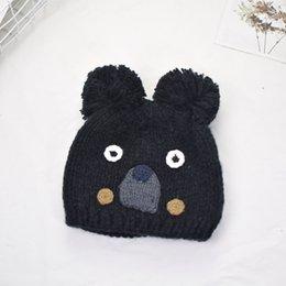 $enCountryForm.capitalKeyWord UK - Children's embroidery bear hair ball wool hat fashion knit hat thick warm headgear earmuffs