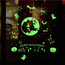 New hm 31007 Halloween luminous witch wall stickers ghost festival bar  bedroom background decorative stickers