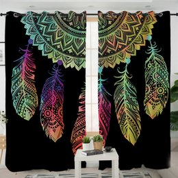 Decor Drapes online shopping - New Design Dreamcatcher Curtains For Living Room Bedroom Colorful Blackout Curtain Window Treatment Drapes Home Decor