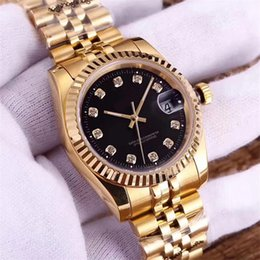 Ladies bLack ceramic sapphire watch online shopping - luxury watch diamond automatic mens women lovers watches date Mechanical iced out Wristwatches famous brand designer ladies Montre de luxe