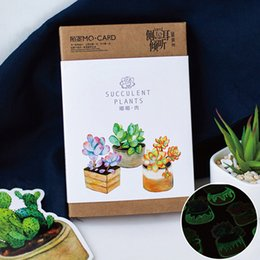 Discount boxed birthday greeting cards boxed birthday greeting boxed birthday greeting cards 2018 30pcs box novelty item night luminous succulent greeting card envelope m4hsunfo