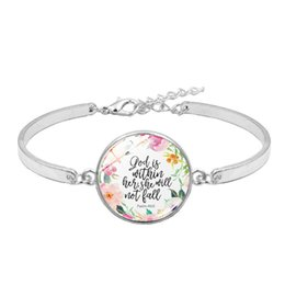 $enCountryForm.capitalKeyWord UK - Bible Verse Bracelet God Is In Her She Will Not Fall, Psalm 46:5 Christian Jewelry Inspirational Quote Bracelet Faith Hope Gift
