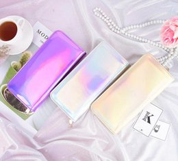 Daily Card NZ - 8 Colors Holographic zipper Long Wallet Women Purse daily shopping Handbag Messager hologram Bag Card Holders Phone Wallet EEA461 60PCS
