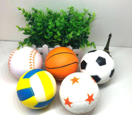 Squeezing Balls Free UK - Hot Flexible Mini Soft Squishy Balls Styles Squeeze Kids PU Decompression Toy Stress Reliever Gift Free Shipping
