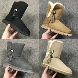 PurPle knee boots online shopping - Best quality snow boots for women winter new arrival womens classic brown navy green black short mid high wool boots size