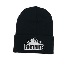 Red beanie foR women online shopping - New Sport Winter fortnite game hat Men cap Beanie Knitted Hip Hop Winter Hats For Women Fashion Warm Skullies Bonnet Gorro