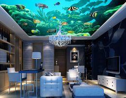 $enCountryForm.capitalKeyWord Australia - 3d stereoscopic wallpaper Happy marine fish Dolphin 3D ceiling murals window mural wallpaper
