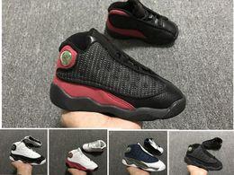 e0244f8b0e7 Barato J 13 s crianças tênis de basquete meninos meninas 13 XIII sneakers  juventude PRESENTE crianças tênis de basquete esportivos crianças sapatos  22-27