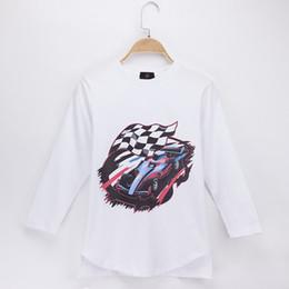 Baby Boy T Shirt Cars Canada - 2018 Kids Clothes Children T-shirts Full Racing Car 100% Cotton O-Neck Child Shirt Boys Long T Shirts Baby Girls Top Teen Tee Unisex 2-13Y