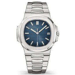 AAA reloj de lujo a estrenar Mens Automatic Machinery Calendar 40mm reloj 5711 acero inoxidable a hombres Luminous Business impermeable 30M reloj de pulsera