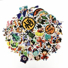 100 unidades / pacote Mixed Dragon Ball Anime Etiqueta Para Laptop Carro Skate Pad Bicicleta Motocicleta PS4 Telefone Decalque Pvc Adesivos on Sale