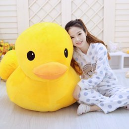 Discount big one toy New 2017 Hong Kong Big Yellow Duck Pillows Plush Doll Toys Soft Plush Pillow Cushion Solid Color Animal dolls