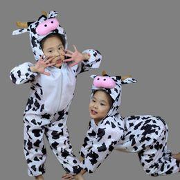 $enCountryForm.capitalKeyWord Australia - Accessories Cosplay Costumes Umorden Children Kids Toddler Cartoon Animal Milk Cow Costume Performance Jumpsuit Halloween Costumes for Bo...