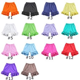$enCountryForm.capitalKeyWord NZ - Girls Colored Lace Shorts Candy Shorts for Girls Multi-color Elastic Band 100% Cotton Short Pants Summer