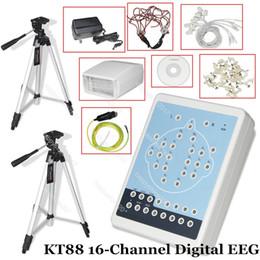 CE Contec KT88 16-канальная цифровая система картографирования системы ЭЭГ Программное обеспечение для ПК Штативы Сканер карт памяти