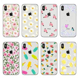 Ice cream soft case Iphone 5s online shopping - Phone Case For Apple iPhone XS MAX XR S SE S Plus X floral flower rose daisy banana ice cream pattern TPU Soft silicone Back Cover