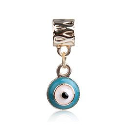 115e32e01 Blue Enamel Evil Eye Dangle Unique Alloy Charm For Pandora Bracelet Snake  Chain Or Necklace Fashion Jewelry Loose Bead New Arrival