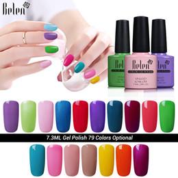 gel lak 2019 - Wholesale-Belen Gel Nail Polish UV LED 79 Colors 7.3 ML Brands Long Lasting Gel Varnish Lacquer for Nails Varnishes Soak