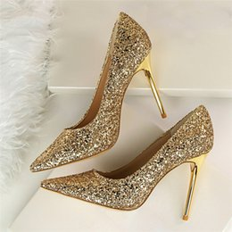 Discount Silver Bling Wedding Shoes | 2018 Silver Bling Wedding ...