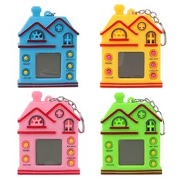 Wholesale Mini Digital Pet Electronic Game House Shape LCD Virtual Machine With Key Chain