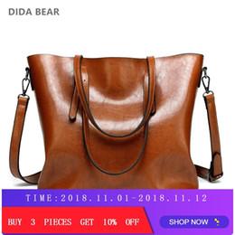 2019 Fashion DIDA BEAR Brand Women Leather Handbags Lady Large Tote Bag  Female Pu Shoulder Bags Bolsas Femininas Sac A Main Brown Black Red d8008ef1fc779