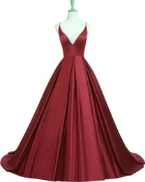 $enCountryForm.capitalKeyWord UK - Hot Selling Spaghetti Straps Long Burgundy Criss Cross Long Prom Dresses Evening Dresses In Stock Under 100